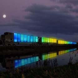 Doug Aitken's nomadic art happening 'Station to Station' kicks off nine-city tour in Williamsburg, headed toward San Francisco in the next three weeks.