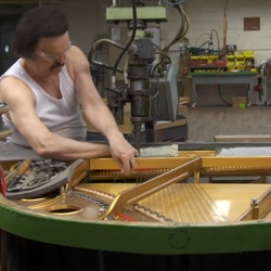 The Making of a Steinway & Sons piano is a time honored process. The film goes step by step through the factory in Astoria, NY.