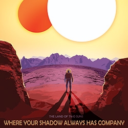 NASA has great travel posters for Kepler-186f, HD 40307g, and Kepler 16b... maybe someday we can really visit them!