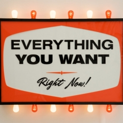 Steve Lambert's solo show debut: Everything You Want, Right Now! at the Charlie James Gallery in LA.. really cool