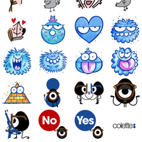 Colette iMessage Stickers! Featuring Kevin Lyons, Soledad Bravi, and DARCEL.