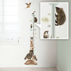 KEK Amsterdam's Animal Wall Stickers (Forest + Safari) are adorable, especially their height charts!
