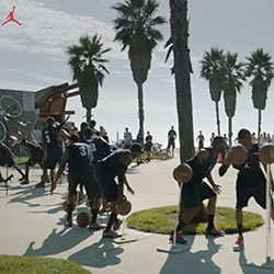 Nike Jordan CP3.VI new Chris Paul Basketball shoe launched with an amazing stunt/video in Venice Beach with tons of doubles creating an insane 'frozen moment' ...