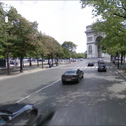 Remake of Claude LeLouch's Rendez-vous film, with help from google street view