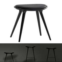 Mater's wooden stools are gorgeous ~ they come in white oak, black, and aluminum with removable leather seats. designers: space by signe bindslev henriksen & peter bundgaard rützou /dk