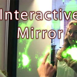 the Interactive Mirror designed and constructed by Alpay Kasal takes the user experience of multitouch interaction and gaming to a whole new level.