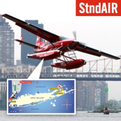 StndAIR ~ your new sea plane ride from New York City to the Hamptons... or private charter! Adorably red, brought to you by André Balazs and the Standard Hotels ~ take a peek at the sketches behind it and it's inaugural flight!