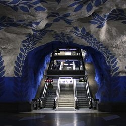 Subway Art and Architecture. This one is the stockholm metro, also called the longest art gallery in the world.