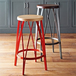 West Elm Ribbon Bar and Counter Stools