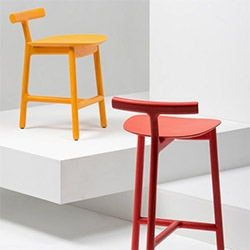 Radice Stool is a minimalist design created by England-based design firm Industrial Facility.