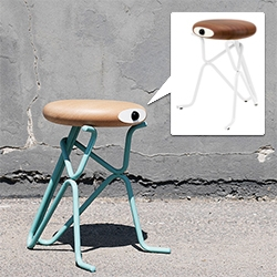 Phillip Grass Companion Stools are adorable cyclopses. The seats are available in oak, beech and sipo mahogany. The base is made of powdercoated steel tubes.