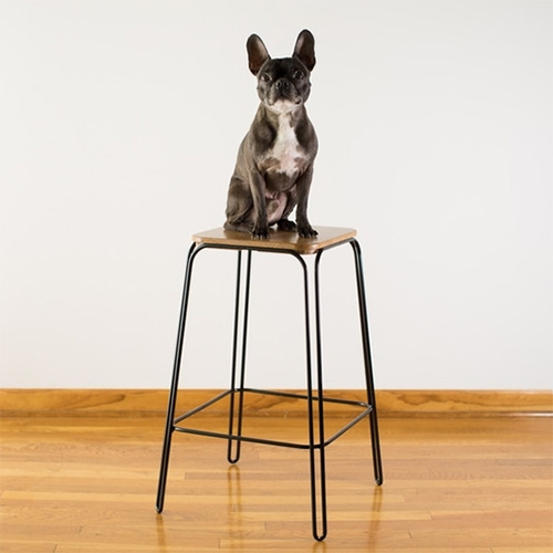 Stool No 1 by Manual. Craighton Berman puts a modern twist on the hairpin leg stool—with a combination of computer-controlled-wire bending and hand-craft. Currently on Kickstarter.