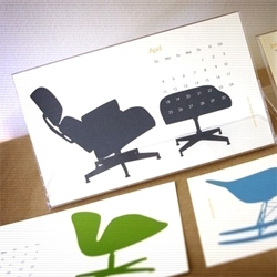 Adorable 2011 calendars from Etsy seller story by mia include this great chair calendar, an animal calendar and more.