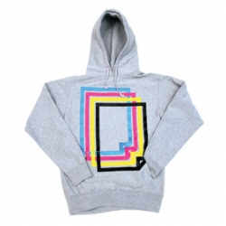 a super soft hooded sweatshirt by staple design. the silk screened symbol  represents A4 which is the standard paper size for schools all over the world