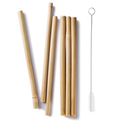 Bambu Bamboo Straws! They come with a handy cleaning brush to wash them out for years of use.