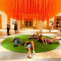 84 Miles of String Suspended at MIA by HOT TEA