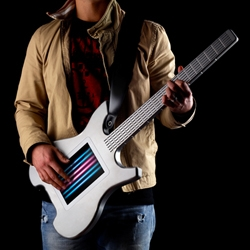 Kitara Touchscreen Guitar is string-free and doubles as a MIDI controller.