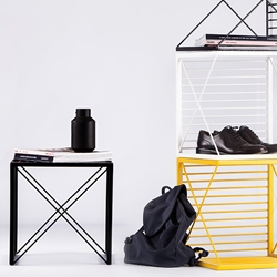 Stripe, the multifunctional box to create customizable lightweight cube furniture designed by Natali Ristovska and Miki Stefanoski.