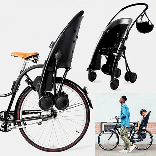 Pähoj - the bike seat that turns into a stroller!