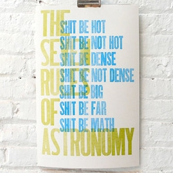 The Seven Rules of Astronomy Poster by Jody Avirgan & Noah Rauch