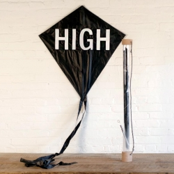The HIGH Kite & Journey tube. A traditional diamond kite with a bong carrying case. A limited edition of 20 by The World's Best Ever.
