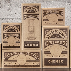 On packaging lust ~ love how much more attractive Stumptown makes all the usual chemex, aeropress, filters, etc.
