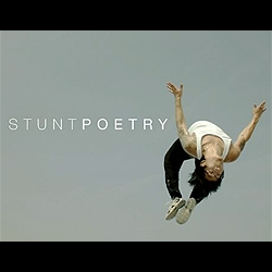 """Stunt Poetry"": A film by Rishi Kaneria.  Arty Description: A meditation on the poetry inherent in the fleeting gaps between moments and motion.  Layman Description: A stunt man in ultra slo mo."
