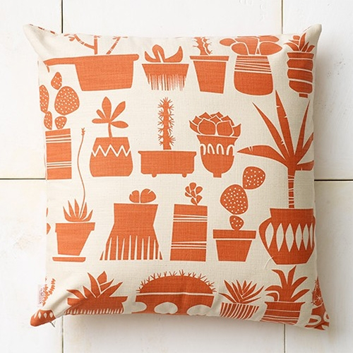 Great succulent print on this Skinny laMinx throw pillow.
