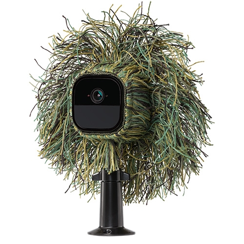 Arlo GO - Wire-Free, Mobile, HD, Weather-Proof, Rechargeable, Audio Security Camera with an AT&T sim card and free 7 day (up to 1GB) playback. Perfect for job sites or wifi-less areas... and there's a crazy camo Ghillie Skin for it!