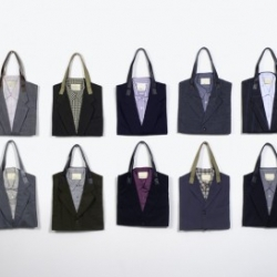 POKETO has launched a new collaboration with environmentally-awesome nonprofit design brand Eco Party Mearry, and I'm loving the result. Aren't these suit totes (recycled from vintage three-piece suits!) amazing?