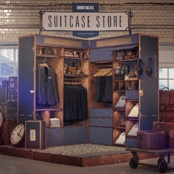 Suitcase Store – a pop-up store in the shape of a giant suitcase.