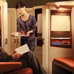 """Introducing a class beyond first"" - with this moto, Singapore Airlines introduces airbus A380 luxury interior cabins, luxury on board with a brilliant design, making anyone feel like home! No sex allowed."