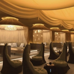 It took Stephane Dupoux seven hours, sitting in the dark underground to visualise the transformation of this incredible Sultan lounge in Kuala Lumpur.