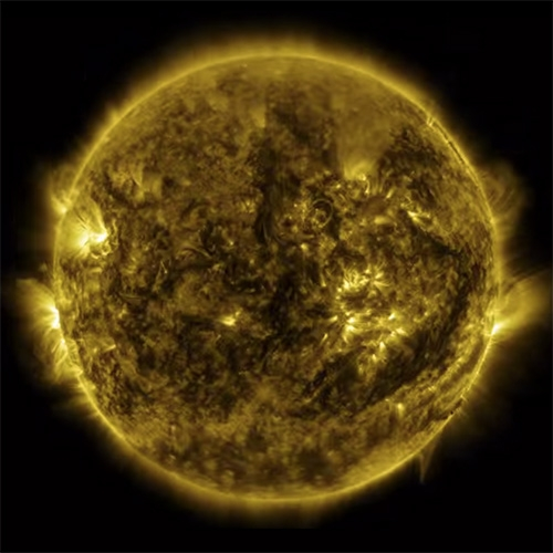 Time lapse of the Sun from Jan 1, 2015 to Jan 28, 2016 as seen by NASA's Solar Dynamics Observatory. Stunning!