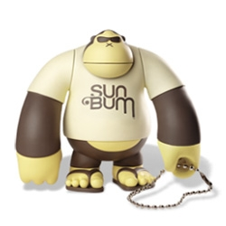 Sun Bum - great branding for this sun care line - adorable mascot gorilla toys too!