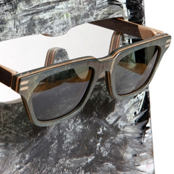 These Vuerich Brothers sunglasses are a new spin on uses for recycled skateboards.