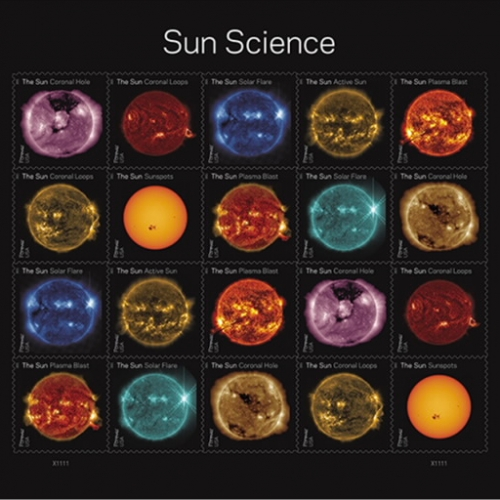 Sun Science USPS Stamps - images from NASA's Solar Dynamics Observatory