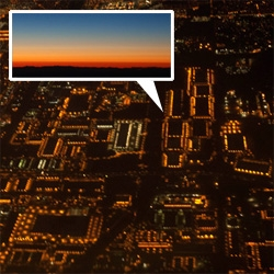 LA looks like circuit board city flying in from Pittsburgh tonight at sunset... Operation Window Seat: PIT-LAX