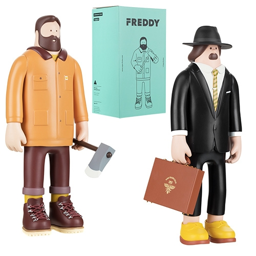 Superfiction vinyl toys at Colette. Freddy, Nick, and Scott!