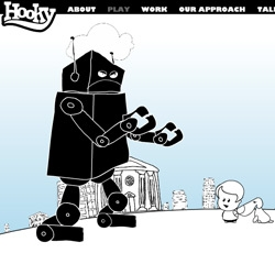Hooky Interactive ~ ADORABLE and addictive flash game homepage... where you and your dog even get to fight robots!