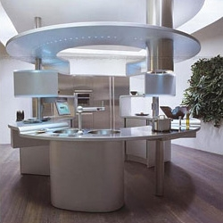 You may be able to cook much faster (and of course with style!) with this kitchen designed by Pininfarina. By the way, my condolences go out to the whole Pininfarina family...