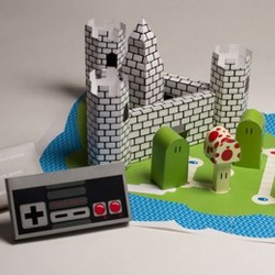 Ashley Buerkett redesigned the Super Mario Nintendo game as a board game as a student project at The Ringling College of Art + Design.