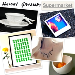 NOTCOT Holiday Giveaway #6: Supermarket! A bundle of designer goodies from around the world! See all the giveaway details with how to comment for a chance to win!