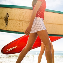 Stunning video and lovely ladies surf wear from Pret-A-Surf for J.Crew! Inspiring video that gives you a peek into how their company came to be...