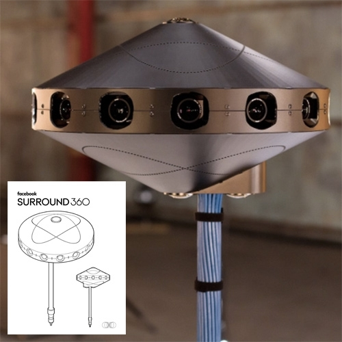 Facebook Open Source 360 Surround Camera - join the github and make your own following their IKEA inspired instruction manual.