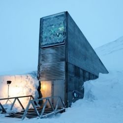 "The Svalbard Global Seed Vault is now open for business. The vault is planned to hold ""backups"" of 100 million seeds from of all over the world. And it looks like a super villain hideout."