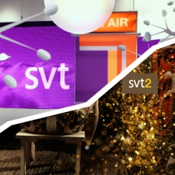 Sweden's public television broadcasting company, SVT, updated their profile a few weeks ago. Two of the companies involved shows their work and talk about the process.