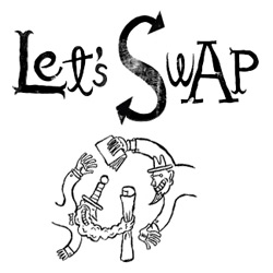 Let's Swap is a site where artists and designers can swap art for free. Very good illustrators are featured.