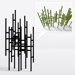 Swarm for Council by Mike and Maaike! Beautiful new modular room/space divider launching at ICFF!