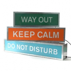 "Can't you just see this ""Keep Calm"" light flashing wildly while complete and utter chaos ensues?"